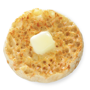 The classic English muffin with butter