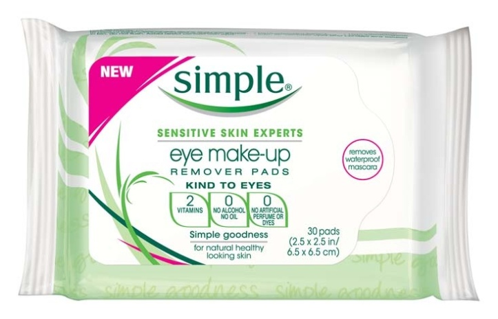 Simple Eye make up pads