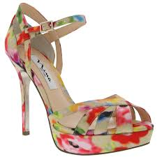 Sunny Money floral heel by Nina Shoes $89.