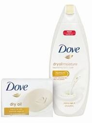 Dove new dry oil bar and body wash