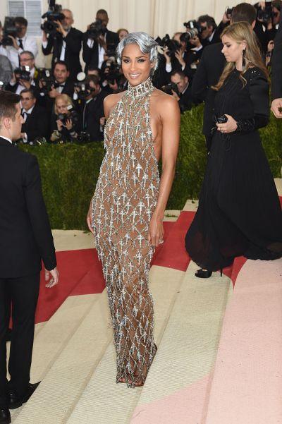 Ciara in a custom H&M dress
